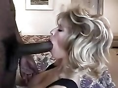 Slim blonde mature interracial.