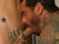 Mature man reams submissive and slim boy