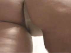 Juicy Mature Ass Shaking In A White Thong