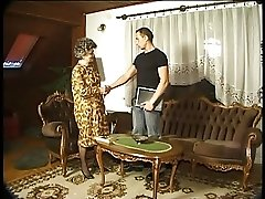Granny in Stockings Fucks