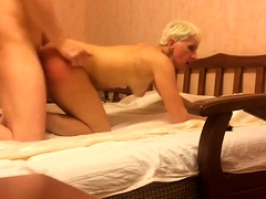 Hardcore fucking Russian short hair mature mom