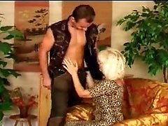 Hot Older Euro Cougar In Heels Gets a Big One