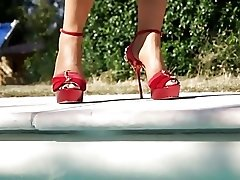 High Heels at the pool