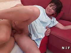French cougar rimming and anal fucking
