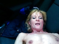 Skinny mature woman enjoys anal