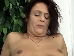 Hot mature piss and cumshot