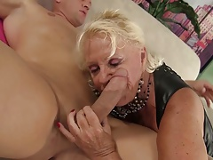 sexy granny loves the cock