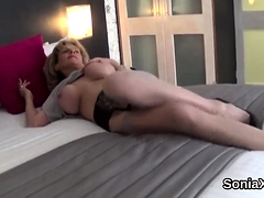 Cheating british milf lady sonia flashes her large tits43XMr