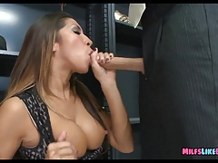 MILF gets Cock in the backroom of party