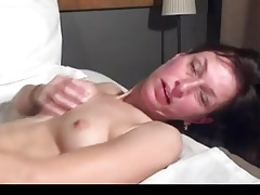 Mature masturbating with toy
