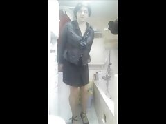 Patty Crossdresser stockings secretary style