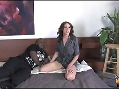 Mom Katie Angel creampied by black in front of white son