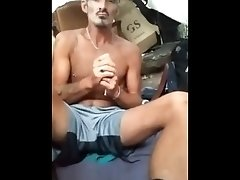 Nasty Dude Slams in a Fort, Gets Horned up & Hungry For Dick