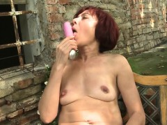 Pierced mature mommy playing with  Shirly from 1fuckdatecom