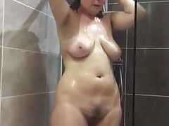 Sexy Thick Mature In Shower