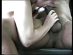White married milf sucking my black cock