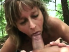 Delicious mature woman handling a young loaded rod