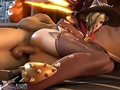 Witch Mercy Gets Fucked On Halloween