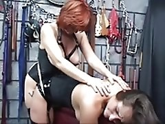 Lesbian with tattoo on gear gets her boobs sucked then gives strap on dildo fuck