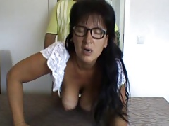 Dirty German Milf-Doggy Facing Camera-Swinging Tits-Facial