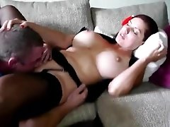 Incredible milf with big tits gets fucked hard and sucks cock