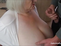 A quick cum on tit clip