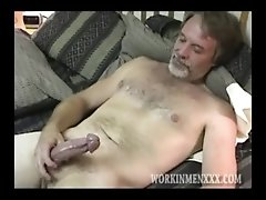 Mature Guy Next Door Man Strokes Big Cock