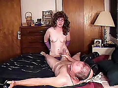 MILF LIKES BEING A HANDCUFFED COCK SLAVE