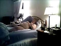 Mom masturbating on bad caught by bad son. Hidden cam