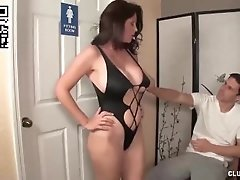 Charlee Chase Jerks Off Her Bad Son