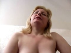 Stepmom with saggy tits & guy