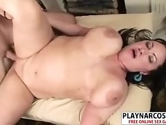 Sweaty Stepmom Aspen Gives Handjob Sweet Hot Son