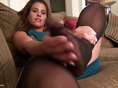 Home video with mature American mother masturbating