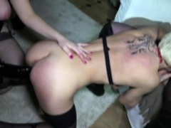 3 Milfs in stockings piled and analfucked
