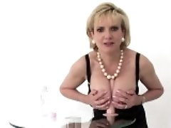 Unfaithful english milf lady sonia showcases her big tits