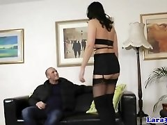 British mature masturbates after doggystyle