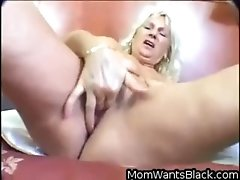 Chubby Blonde Granny Fucking A Black Guy